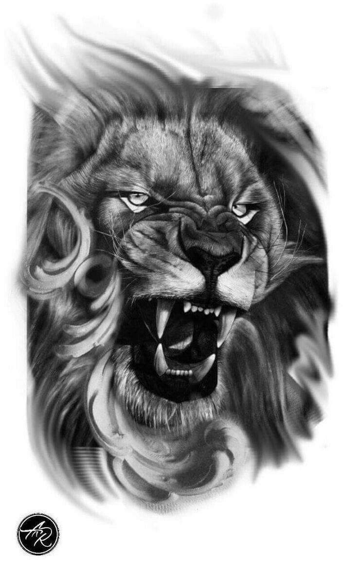 Картинки тату лев тигр