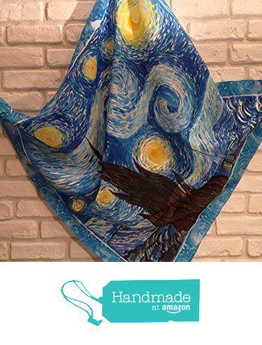 Notte stellata Van Gogh. Foulard pura seta dipinto a mano da La Farfalla creazioni https://www.amazon.it/dp/B01MUC02B8/ref=hnd_sw_r_pi_dp_6I4Fyb0PAENP6 #handmadeatamazon