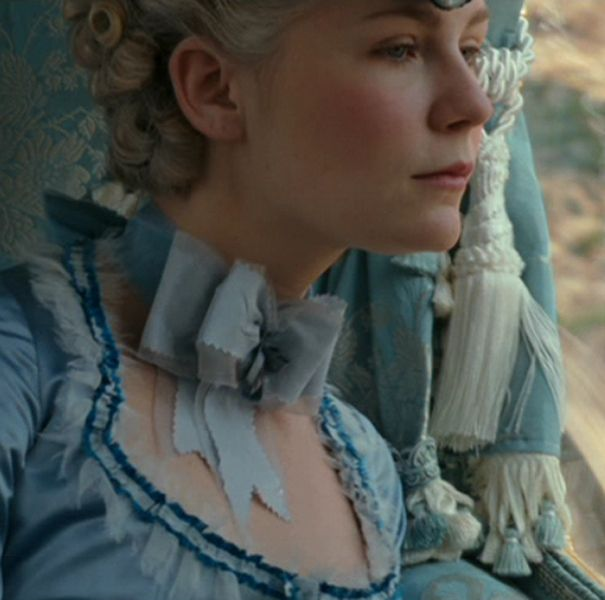 What I think of as Marie Antoinette's color, this pastel but vibrant blue. Kirsten Dunst as Marie Antoinette