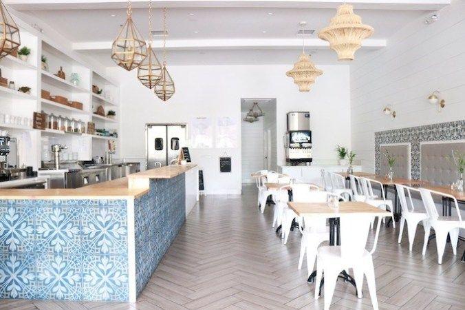 Before After Cafe Hermosa Project Becki Owens Cafe Interior Design Restaurant Interior Design Modern Cafe