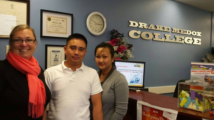 Community Support Worker & Healthcare Canada — Drake Medox College is proud to award Alex Tabones..