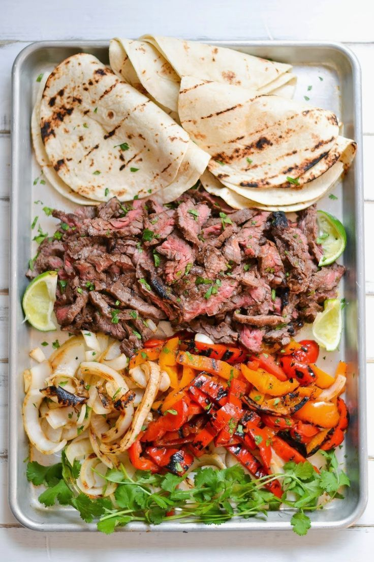 Steak Fajitas...I used this marinade on steak and chicken and it was so delicious. Will be making this again!