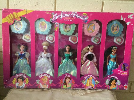 Vintage Disney Perfume Princess Set1995 Original Box Never