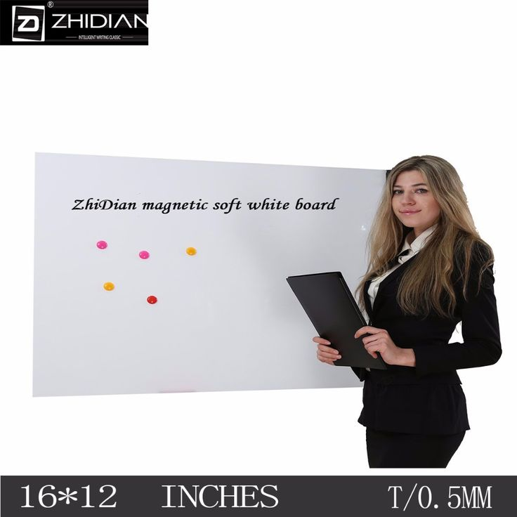 ZHIDIAN Soft Magnetic Self-adhesive Whiteboard Dry Erase Thickness 0.5mm Magnetic Surface Gifts(1612 Inches)