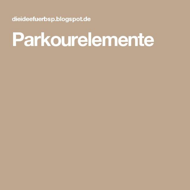 Parkourelemente