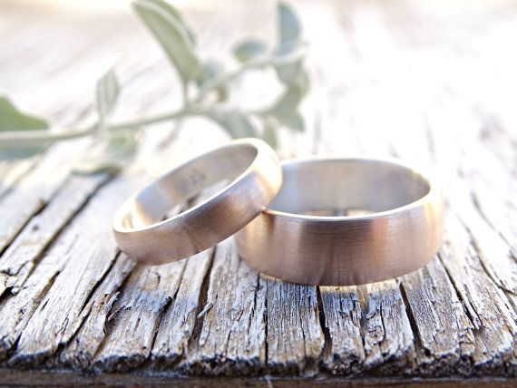 two tone wedding bands, cool wedding rings personalized, matching rings his and hers, wedding rings mixed metal, bronze anniversary rings