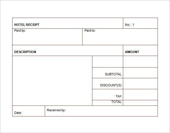 Hotel Receipt Example Smdlab Invoice Invoice Template Word Invoice Sample Receipt Template