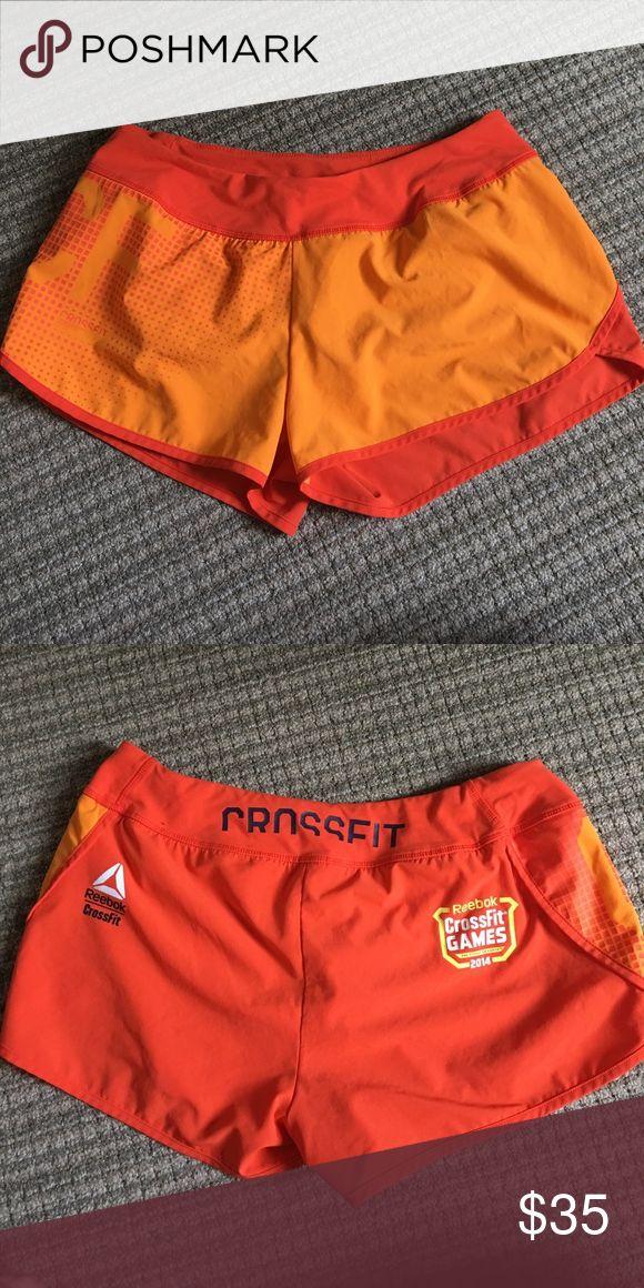 Reebok Crossfit Games 2014 Gym Short Lightly used orange women's CrossFit shorts! Special 2014 Crossfit Games edition, super comfy and versatile! Reebok Shorts