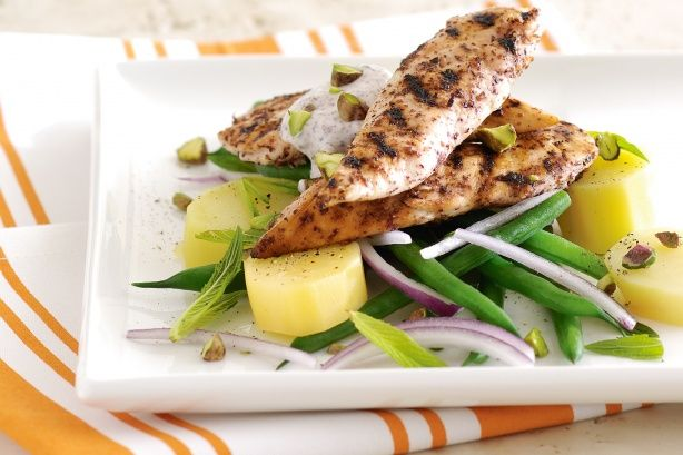 Get a boost of protein and vitamin C with this flavoursome chicken main topped with pistachio.