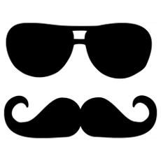 mustache sayings funny | Funny Mustache sunglasses Wall Art Poster