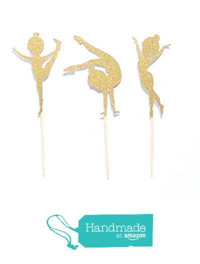 12 Glitter Gymnastics Cupcake Toppers - Any Color - Girl's Gymnast Birthday Party Decor from Okie Heart Studio http://www.amazon.com/dp/B0175DTY6U/ref=hnd_sw_r_pi_dp_KHvuwb11CMPBY #handmadeatamazon