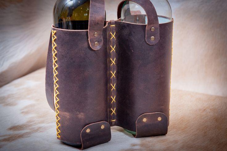 Leather Bottle Bag. Wine Double Bottle Holder. Wine Tote. Bottle Carrier Кожаный чехол для двух бутылок вина. В нашей коллекции сумок для бутылок вновь пополнение. Сделанные вручную из тонкой коричневой кожи с небольшим винтажным эффектом держатели для бутылок будут отличным компаньоном для пикника или барбекю, попробуйте!  Handmade leather bag for two bottle of wine, from perfect, high quality Italian full grain natural leather. Hand cut and stitched. Soft and touchy genuine leather with…