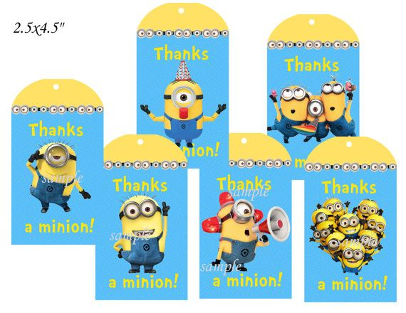 MinionsMinions thank you tagsMinions tagsMinions by MyCuteParty