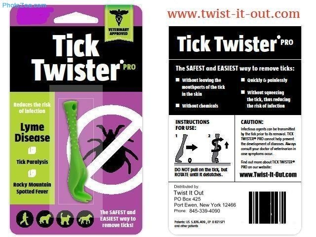 For embedded ticks; this is a great tick remover.  $8.00 Postage paid. In New York $8.40 please covers the sales tax.