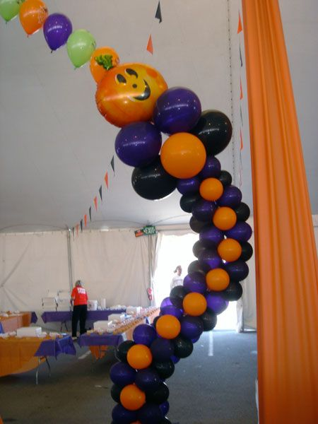 29 best images about columnas realizadas con globos on for Balloon decoration for halloween