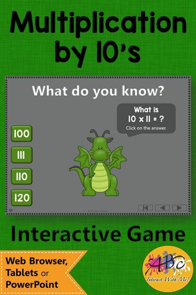 Your 3rd and 4th graders will LOVE this interactive math game! Fun multiplication game to review math facts! #multiplication#multiplicationfacts#multiplicationgames#mathgames #ABCInteractWithMe