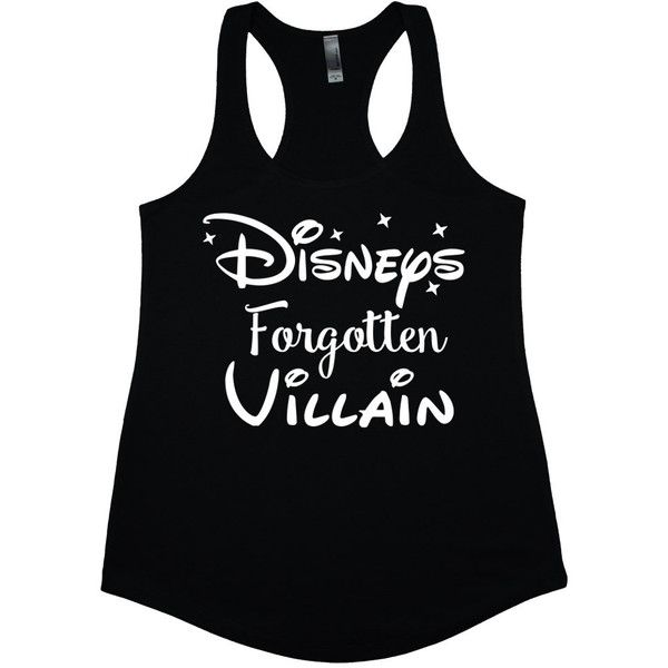 Disneys Forgotten Villain Disney Tank Tops Disney Junior Princess... (£13) ❤ liked on Polyvore featuring tops, shirts, black, women's clothing, crew neck shirt, racerback tank, jersey shirts, loose shirts and loose tank