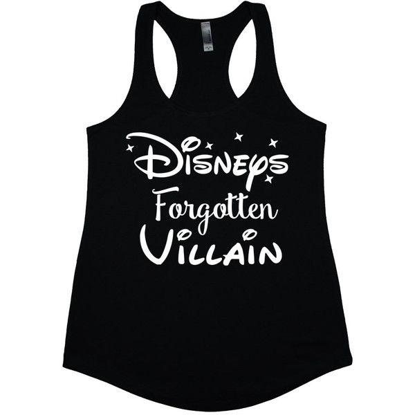 Disneys Forgotten Villain Disney Tank Tops Disney Junior Princess... ($20) ❤ liked on Polyvore featuring tops, shirts, black, women's clothing, black racerback tank top, loose tank, black racerback tank, racerback tank and v neck shirts