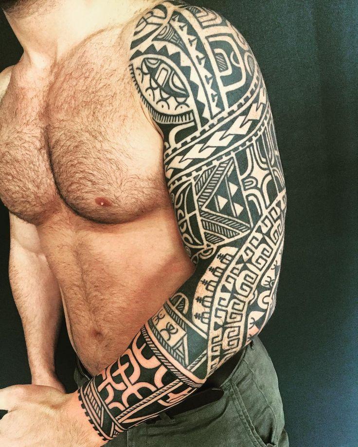 Added to Altins three quarter sleeve today #polynesiantattoo…