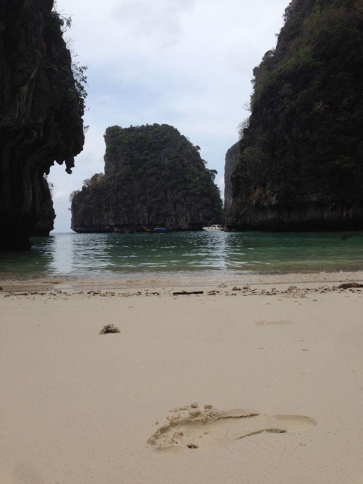 Pegada na areia - Ko Phi Island - Tailandia