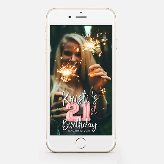 LIMITED TIME! Snapchat Geofilter Birthday, Snapchat Birthday Geofilter, 21st Birthday Gift for Her, Birthday Filter, Gold Balloons bir76