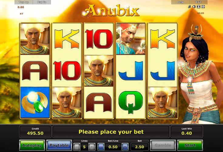 #Novomatic #Spielautomat Anubix einfach kostenlose und ohne Anmeldung verfügbar! Nutze die Chancen sich von Alltag zu erholen!
