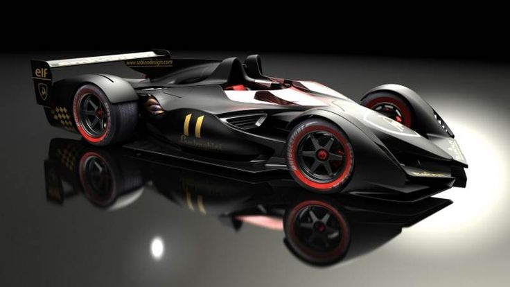 2014 F1 Car Design | Lamborghini race car look like if it was entered in a combined F1 ...