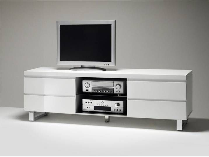 Tv Lowboard Mit Hochglanz Lack Modern White Tv Tv Entertainment