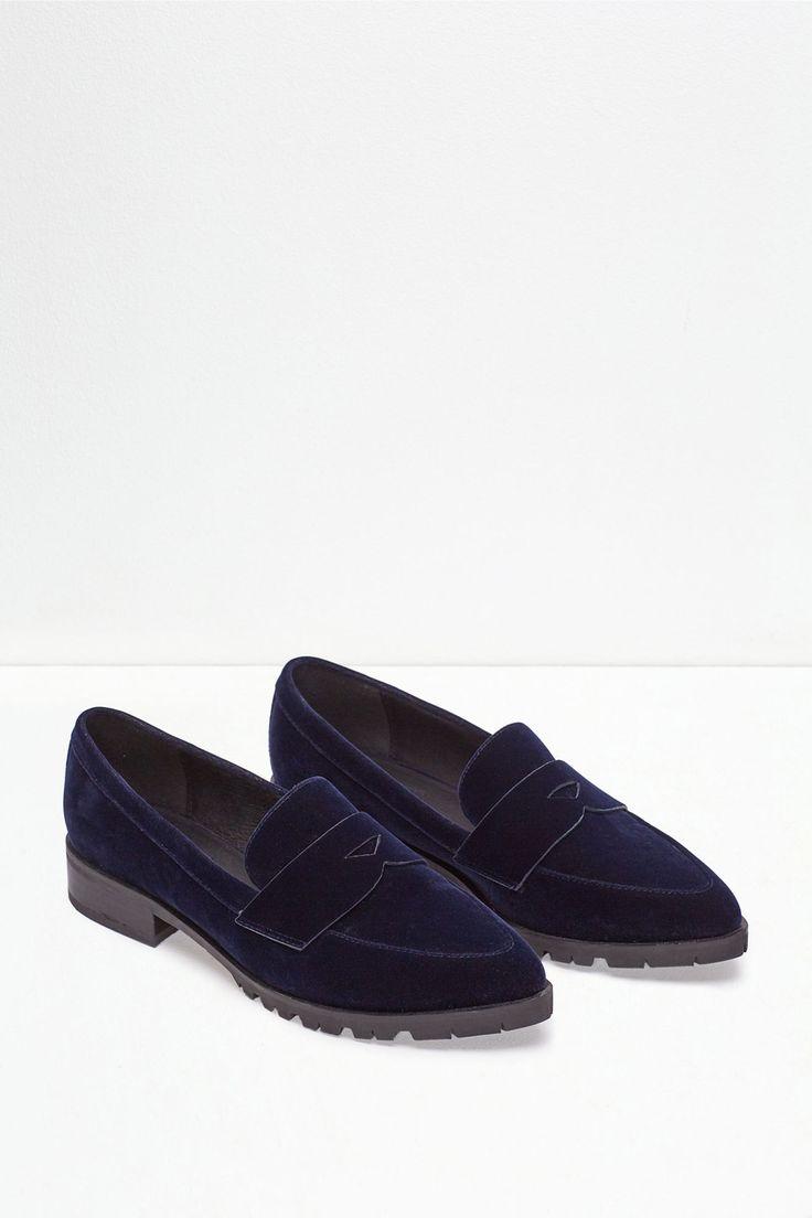 Mocasín terciopelo track | Zapatos | Cortefiel