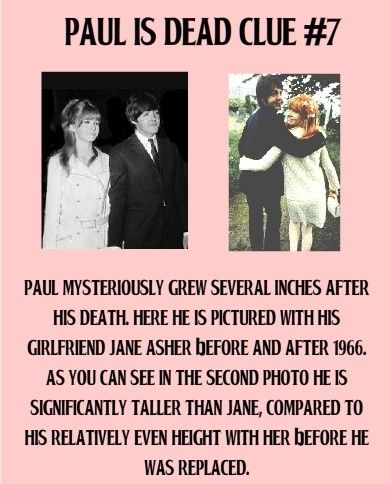 Paul Is Dead Photo Evidence   Paul is dead clue #7.   Paul McCartney is dead?   Pinterest & then Jane and Paul 1 lived happily ever after :)