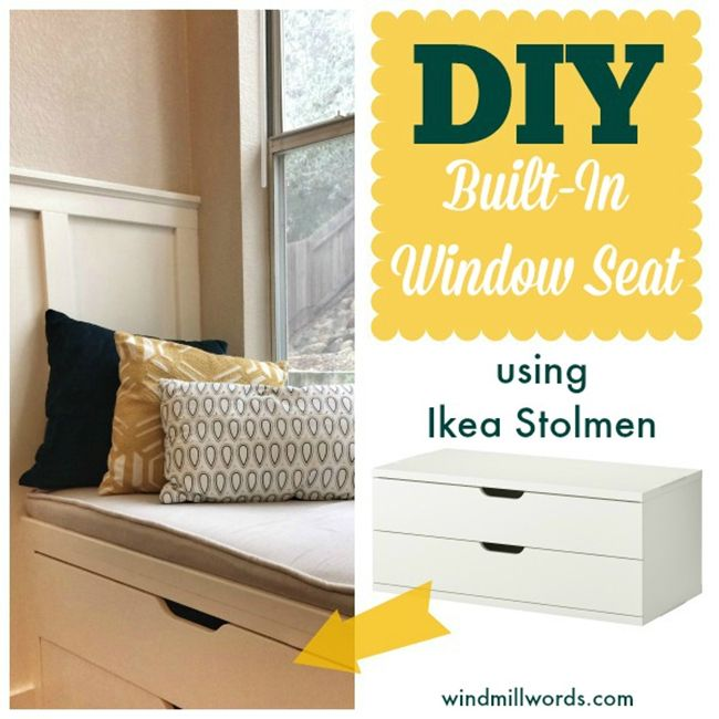 diy window seat with bookshelves   Awesome Pieces of Bedroom Furniture You Won't Believe are IKEA ...