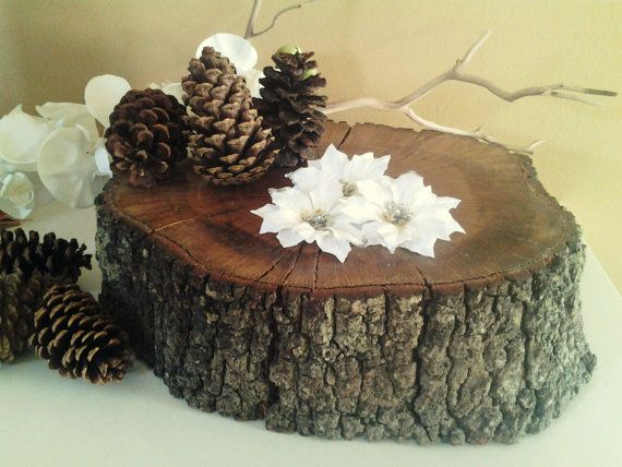 Quot rustic oak tree trunk slice wedding decor