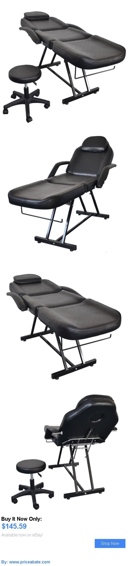 Massagers: Salon Spa Black Massage Bed Tattoo Chair Facial Adjustable Table Acupuncture BUY IT NOW ONLY: $145.59 #priceabateMassagers OR #priceabate