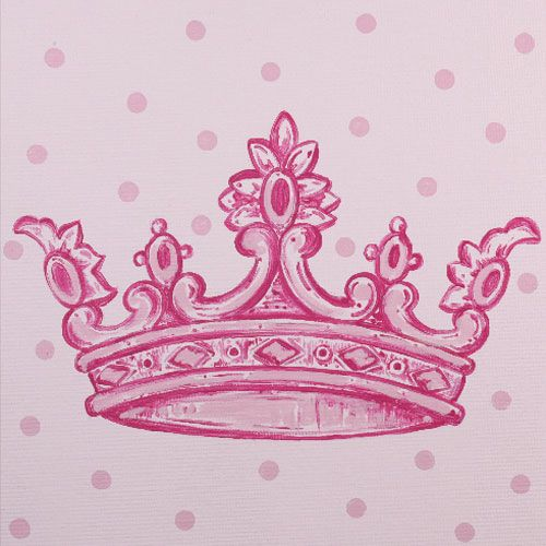 Pink Crown Inspired Square Canvas from PoshTots