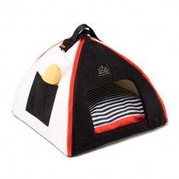 Iglu Para Perro Mon Petit Dome Negro-Blanco