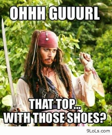 Jack sparrow fashion advice cause HELL YAH He's a Caribbean Aphrodite