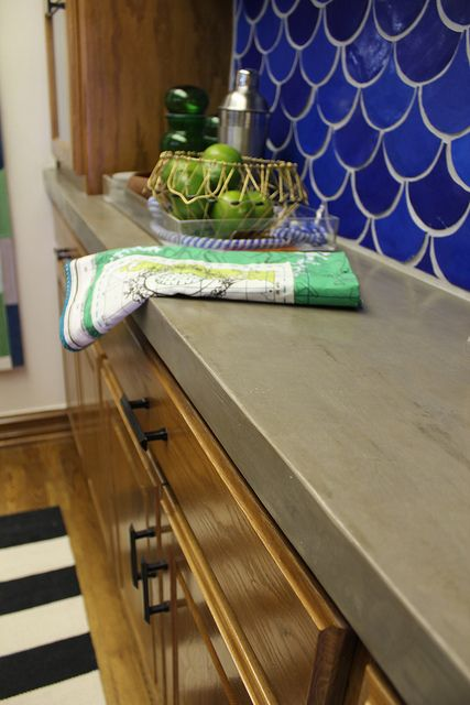 How to convert laminate countertops to concrete.