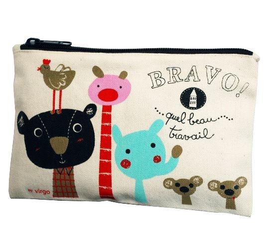 *Art on the run*  Coq en Pâte School Pencil Case, Gifts for Girls