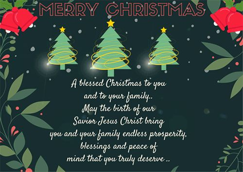 A Blessed Christmas To You.