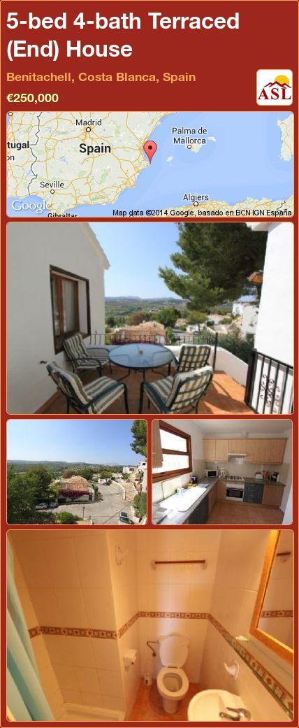 5-bed 4-bath Terraced (End) House in Benitachell, Costa Blanca, Spain ►€250,000 #PropertyForSaleInSpain