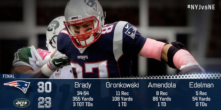 #Patriots stats leaders. #NYJvsNE