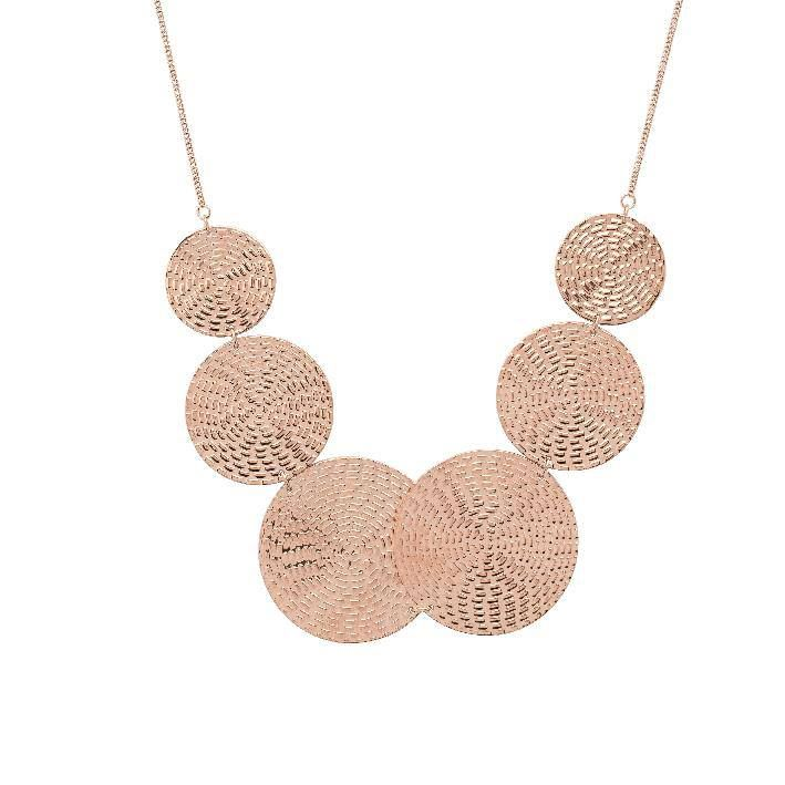 Rendezvous Necklace in Rose Gold $140.00