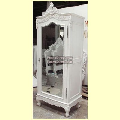 French Armoire 1 Door with Mirror Door Refrence : RAR 022 MR Dimension : 80 x 50 x 220 cm Material : #WoodenMahogany Finishing : #Custom Buy this #Armoire for your #homeluxury, your #hotelproject, your #apartmentproject, your #officeproject or your #cafeproject with #wholesalefurniture price and 100% #exporterfurniture. This #FrenchArmoire1DoorwithMirrorDoor has a #highquality of #AntiqueFurniture #CustomFurniture #FurnitureOnline #IndonesiaFurniture #WoodenFurniture #IndustrialFurniture