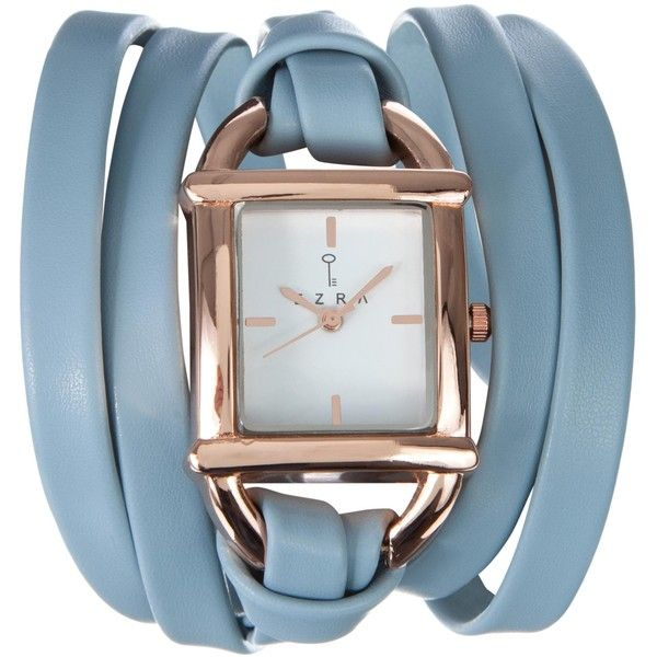 Zalora Square Triple Wrap-Around Watch ($11) ❤ liked on Polyvore featuring jewelry, watches, accessories, analogue, pastel blue, square watches, wristband watches, wrap watches, white face watches and wrap around watches