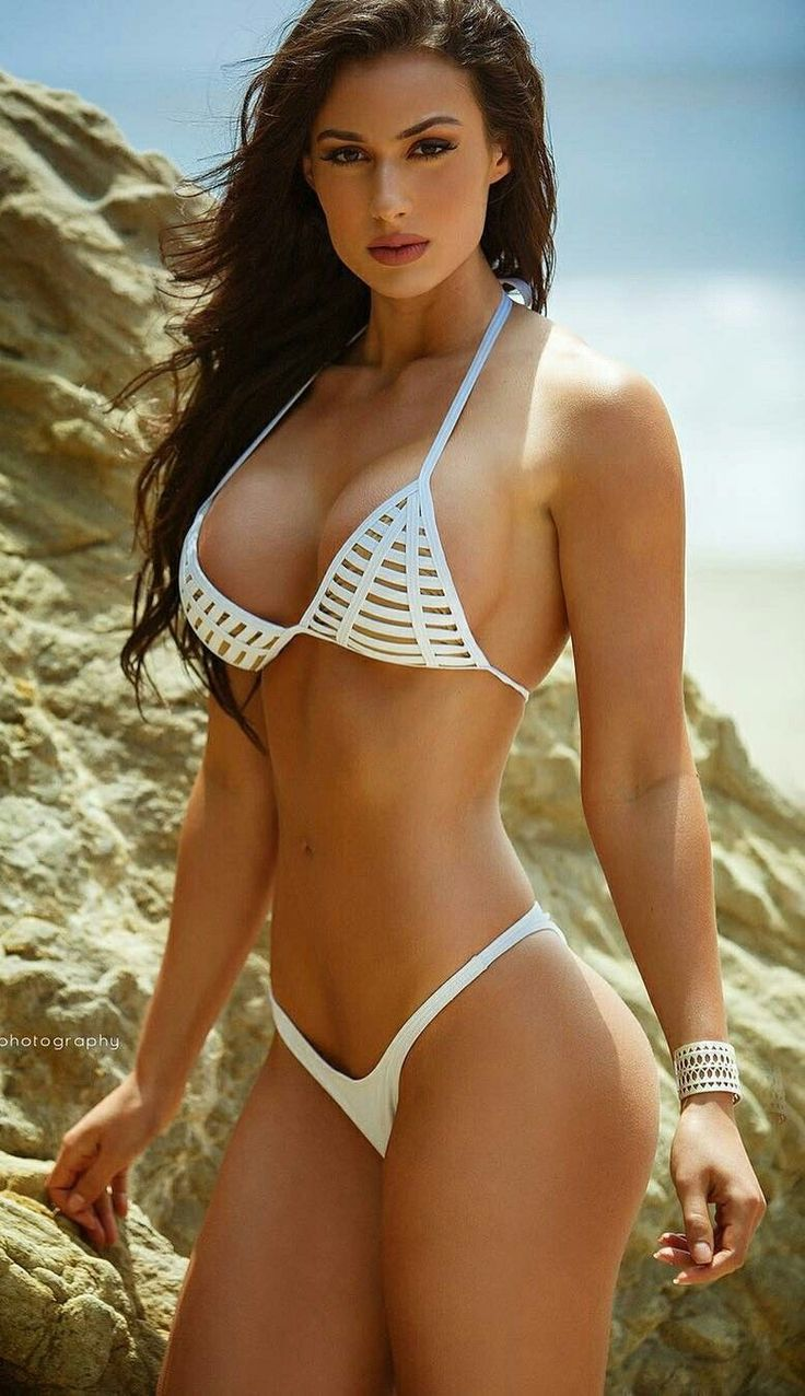 Brunette In A Nice White Bikini | Sexy Fit Females ...