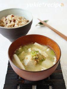 里芋と長ネギの胡麻味噌汁