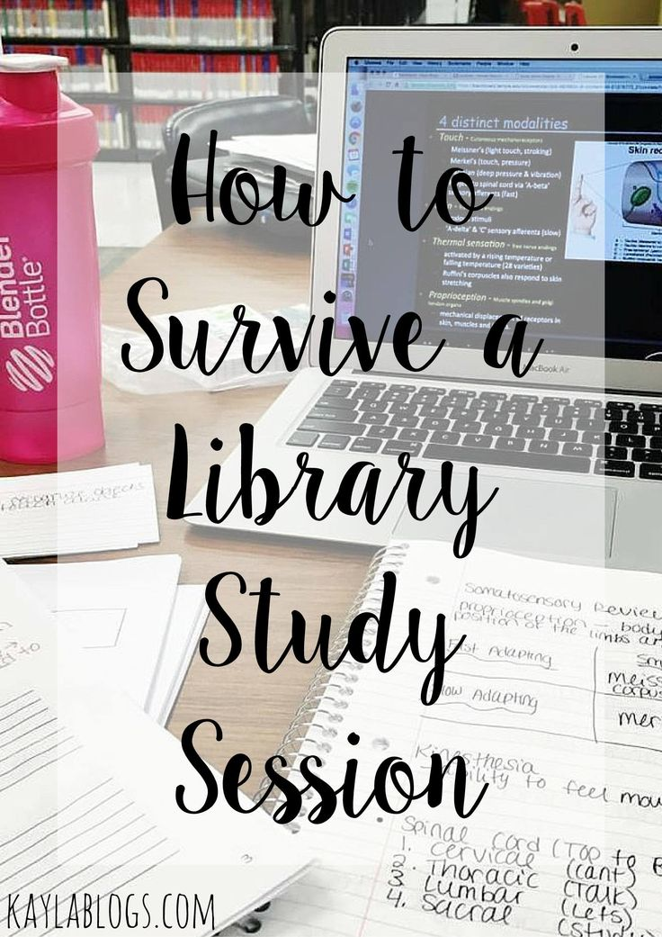 Finals week is quickly approaching! Here's what you need to get through a library study session...