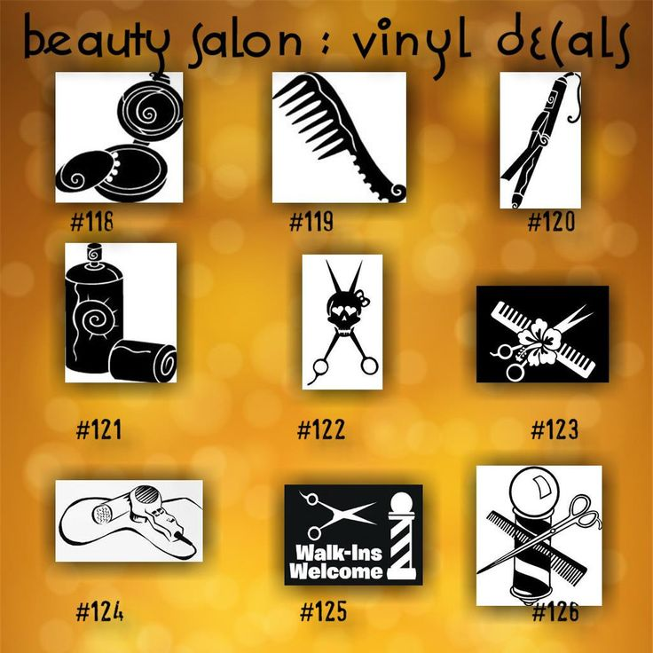BEAUTY SALON Vinyl Decals Vinyl Stickers Custom Car - Car decal stickers custom
