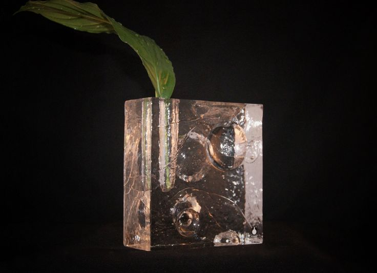 #forsale Retro glassvase, design: Uno Westerberg for Pukeberg glass