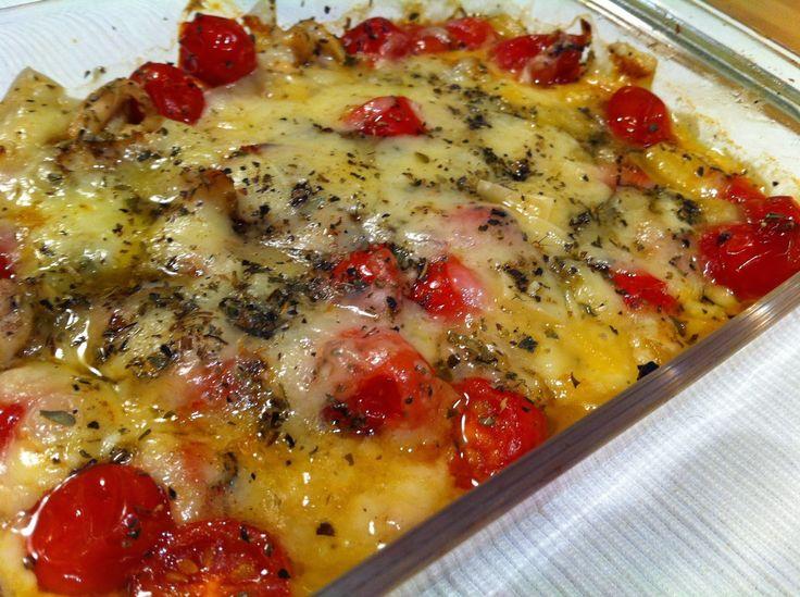Gratinado de pollo, tomate y cebolla | Cocinar en casa es facilisimo.com
